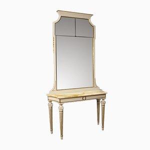 Italienischer Louis XVI Stil Konsolentisch mit Spiegel, 1950er
