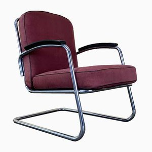 Mid-Century Steel Lounge Chair from Mauser Werke Waldeck