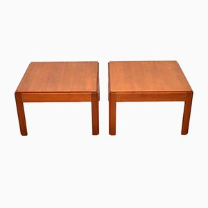 Danish Teak Side Tables by Illum Wikkelso for CFC Silkeborg, 1960s, Set of 2