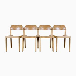 Vintage Wooden Side Chairs from Schlapp Möbel, Set of 4