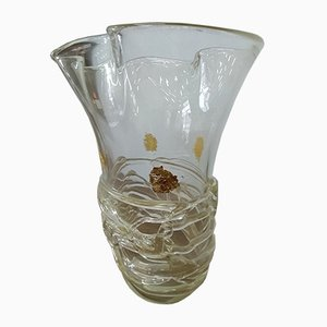 Crystal Gold Vase by Sergio Costantini