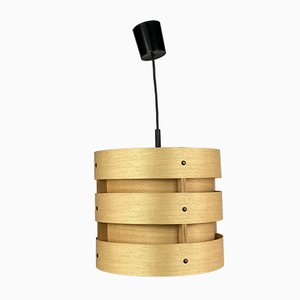 Mid-Century Space Age Wood Ceiling Lamp from Zicoli