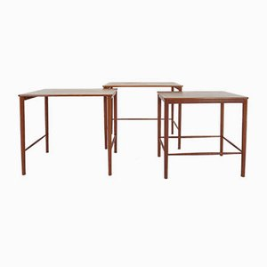 Danish Teak Nesting Tables by Kaj Winding for P. Jeppesen, 1960s