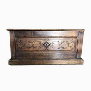 Antique Spanish Carved Oak Chest