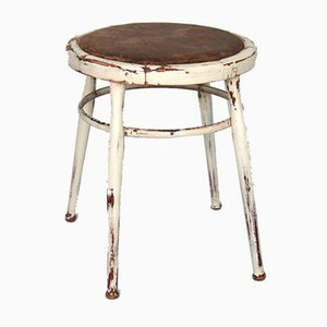 Antique Swedish Rustic Bentwood Stool