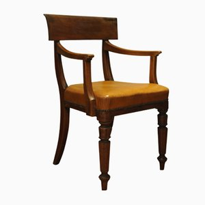 Antique Leather Library Chair