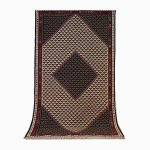 Vintage Handwoven Senneh Nomad Kilim Carpet