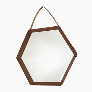 Italian Teak Mirror, 1950s