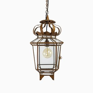 Gold Glazed Hall Lantern Lamp, 1930s