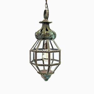 Antique French Octagonal Copper Hall Lantern