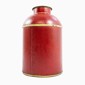 Antique Painted Toleware Tea Canister