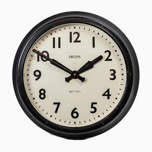 Reloj de pared industrial grande de Smiths, años 50