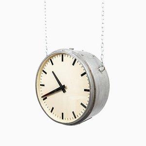 Orologio da stazione ferroviaria di Gents of Leicester, Inghilterra, anni '50