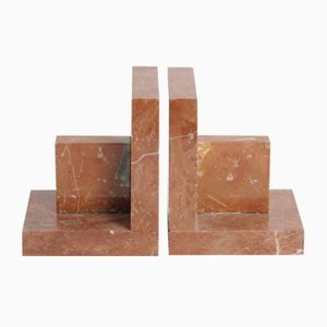 Mid-Century Marble Bookends, 1940s