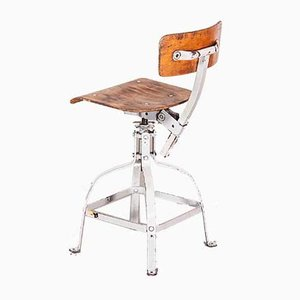Mid-Century French Bienaise Swivelling Desk Chair by Nelson Brothers