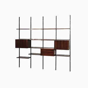 Rosewood Model E22 Modular Shelf by Osvaldo Borsani for Tecno, 1960s