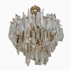 Lámpara de araña de vidrio lustre de Venini, años 80