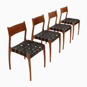 Dining Chairs by Piero Palange & Werther Toffoloni for Montina, 1960s, Set of 4
