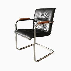 Chaises de Bureau Cantilever Vintage, années 60, Set de 4