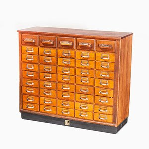 Oak Apothecary Chest of Drawers, 1950s
