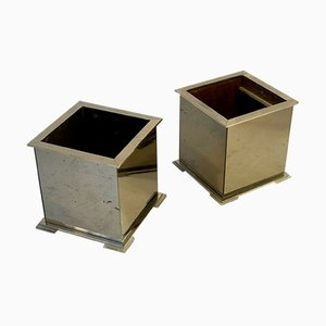 Large Planters by Guy Lefèvre for Maison Jansen, 1970s, Set of 2