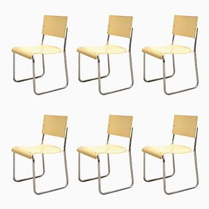 Art Déco Bauhaus Stühle, Deutschland, 1920er, 6er Set