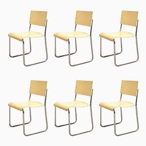 German Art Deco Bauhaus Chairs, 1920s, Set of 6