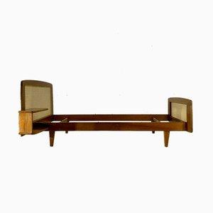 Cama o sofá cama individual moderno de Roger Landault, años 50