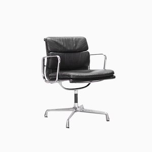 Leather Model EA 208 Swivel Chair by Charles & Ray Eames for Vitra, 1990s