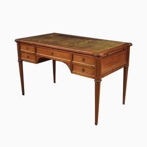 Französischer Mid-Century Schreibtisch aus Mahagoni, Kirschholz & Buche, 1950er