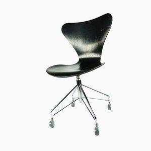 7 3117 Schreibtischstuhl von Arne Jacobsen für Fritz Hansen, 1950er