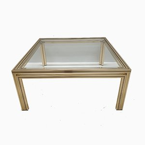 Gold-Plated Coffee Table by Pierre Vandel, 1970s