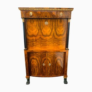 Antique Empire Walnut Secretaire, 1810s