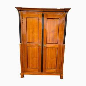 Antique German Biedermeier Cherry Armoire, 1820s