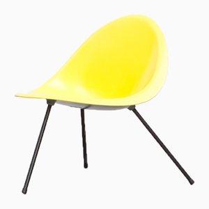 Silla auxiliar amarilla de aluminio de Gallery Sean Kelly