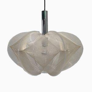 Lámpara de techo Swag de nylon y lucite de Paul Secon para Sompex, años 60