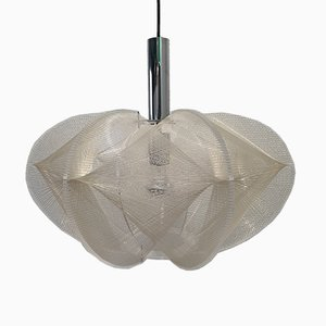 Nylon & Lucite Swag Ceiling Lamp by Paul Secon for Sompex, 1960s