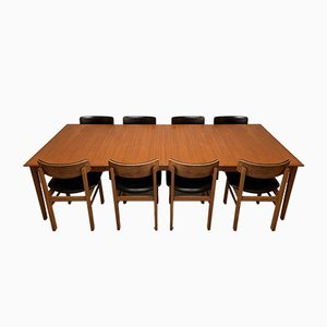 Dänischer Esstisch & Stühle Set von Cado, 1960er, Set of 9