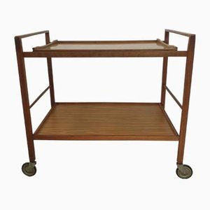Danish Teak Wooden Serving Trolley with Formica Tray, 1960s