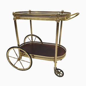 French Brass & Rosewood Trolley, 1960s