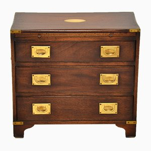 Mahogany Military Campaign Chest of Drawers, 1950s