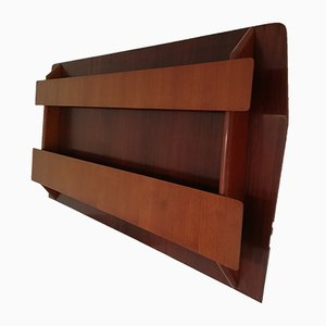 Mid-Century Rosewood and Teak Shelf, 1950s