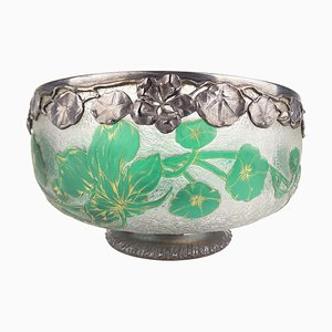 Art Nouveau French Floral Bowl by Jean Daum for Daum