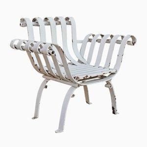 Sedie da giardino antiche in ferro battuto, set di 2