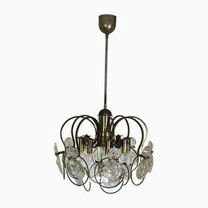 Mid-Century Metall und Glas Deckenlampe