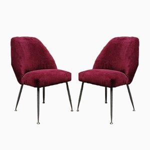 Italienische Campanula Samt Stühle von Carlo Pagani für Arflex, 1952, 2er Set