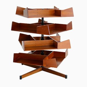 Teak Rotatable Shelf by Erik Andersen Palle Pedersen for Sibast, 1950s