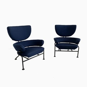 Model PL19 Lounge Chairs by Franco Albini for Poggi, 1950s, Set of 2