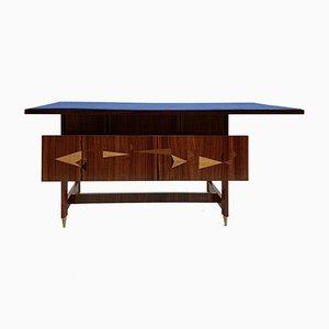 Italienischer Palisander Schreibtisch, 1950er