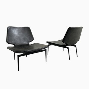 Leather Lounge Chairs by Lazzeroni Roberto for Lema, 2000s, Set of 2
